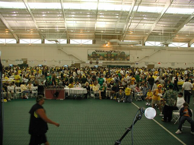 From the stage at the U of O Ducks game 2004. Ducks vs Idaho.